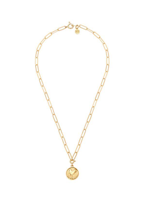 MOKOBELLE - Naszyjnik łańcuch z chińskim zodiakiem - KOGUT. Materiał: pozłacane. Kolor: złoty