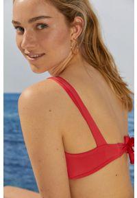 Women Secret - Biustonosz kąpielowy. Kolor: pomarańczowy. Materiał: dzianina