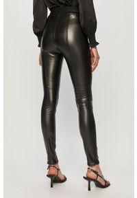 Czarne spodnie materiałowe Hugo z podwyższonym stanem