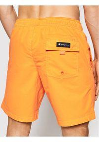 Champion Szorty kąpielowe Satin Script Logo 214428 Pomarańczowy Regular Fit. Kolor: pomarańczowy