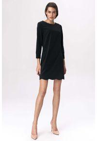 Czarna sukienka wizytowa Nife wizytowa