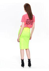 Żółta spódnica TOP SECRET w kolorowe wzory