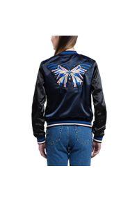 Niebieska kurtka Wittchen młodzieżowa, w kolorowe wzory