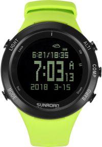 Zielony zegarek sunroad smartwatch