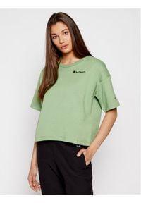 Champion T-Shirt Natural Elements Print 114168 Zielony Oversize. Kolor: zielony. Wzór: nadruk