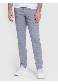 Vistula Spodnie materiałowe Portland XA1242 Szary Slim Fit. Kolor: szary. Materiał: materiał