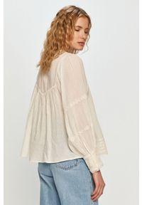 Kremowa bluzka Pepe Jeans z długim rękawem, gładkie #5