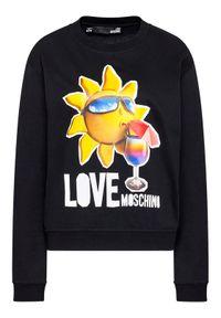 Love Moschino - LOVE MOSCHINO Bluza W630637M 4267 Czarny Regular Fit. Kolor: czarny