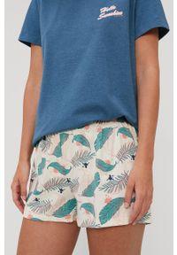 Tom Tailor - Piżama. Kolor: niebieski. Materiał: dzianina. Długość: krótkie