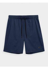 4f - Spodenki treningowe męskie. Kolor: niebieski. Materiał: włókno, dzianina. Sport: fitness