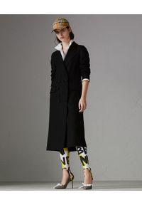 Burberry - BURBERRY - Płaszcz z kaszmiru. Kolor: czarny. Materiał: kaszmir. Długość rękawa: długi rękaw. Długość: długie