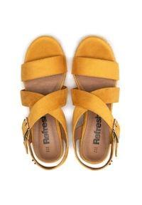 Refresh - Espadryle REFRESH - 72735 Yellow. Okazja: na co dzień. Kolor: żółty. Materiał: materiał. Sezon: lato. Styl: casual