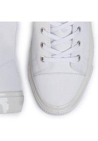 Białe półbuty Calvin Klein Jeans eleganckie, z cholewką