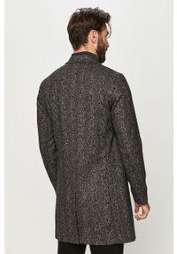 Czarny płaszcz Jack & Jones na co dzień, casualowy, bez kaptura