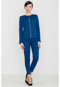Niebieskie spodnie Katrus eleganckie