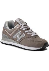 Szare buty sportowe New Balance 574, z cholewką, na co dzień