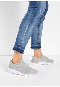 Szare buty sportowe bonprix na rzepy