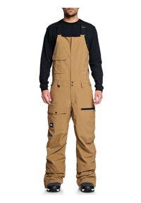Brązowe spodnie sportowe Quiksilver narciarskie