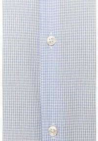 Niebieska koszula Hugo casualowa, długa, z włoskim kołnierzykiem