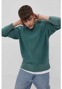 Champion - Bluza. Kolor: zielony. Materiał: dzianina. Wzór: gładki
