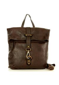 Plecak damski brązowy MARCO MAZZINI v72b. Kolor: brązowy. Materiał: skóra. Styl: vintage