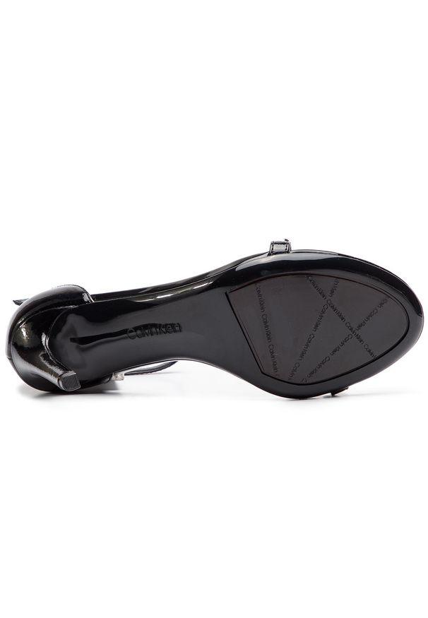Czarne sandały Calvin Klein z aplikacjami, klasyczne