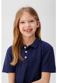 Niebieska sukienka Mango Kids na co dzień, prosta, z krótkim rękawem, casualowa #6