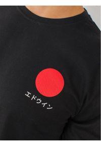 Czarna koszulka z długim rękawem Edwin