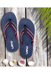 LANO - Japonki męskie Lano KL-4-1708 Granatowe. Okazja: na plażę. Kolor: niebieski. Materiał: tkanina, tworzywo sztuczne. Obcas: na obcasie. Styl: elegancki. Wysokość obcasa: niski