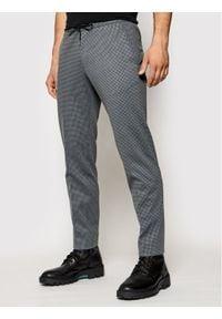 Roy Robson Spodnie materiałowe 219-01 Szary Slim Fit. Kolor: szary. Materiał: materiał