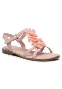 Różowe sandały Nelli Blu z aplikacjami