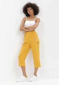 Born2be - Żółte Spodnie Adrasacia. Kolor: żółty #3