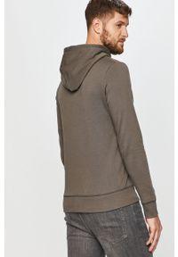 Szara bluza nierozpinana PRODUKT by Jack & Jones z aplikacjami, casualowa, z kapturem, na co dzień