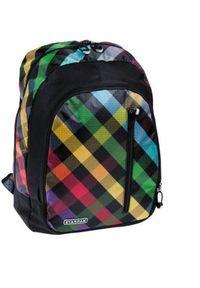 Starpak Plecak szkolny Checkered czarny w kolorową kratkę (348771). Kolor: czarny. Wzór: kratka, kolorowy
