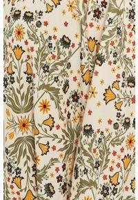Wielokolorowa koszula Answear Lab w kwiaty, wakacyjna, długa, z długim rękawem