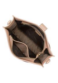 Wittchen - Damska listonoszka ze skóry z patką. Wzór: haft, aplikacja. Sezon: lato. Dodatki: z haftem. Materiał: skórzane. Styl: elegancki, casual. Rodzaj torebki: na ramię #4