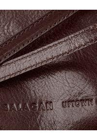 BALAGAN - Brązowa torebka ROFE M. Kolor: brązowy. Styl: vintage, elegancki. Rodzaj torebki: na ramię