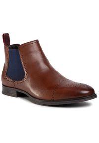 Brązowe buty zimowe QUAZI casualowe, na co dzień, z cholewką