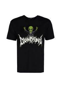 T-shirt Domrebel z okrągłym kołnierzem