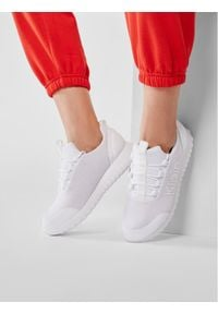 Calvin Klein Jeans Sneakersy Runner Sneaker Laceup Mesh YW0YW00165 Biały. Kolor: biały. Materiał: mesh