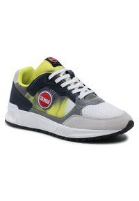 Colmar - Sneakersy COLMAR - Dalton Dye 071 Navy/Dust Lime/White. Okazja: na co dzień. Kolor: szary. Materiał: zamsz, materiał. Szerokość cholewki: normalna. Styl: casual