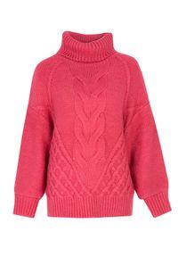 Różowy sweter TOP SECRET z golfem