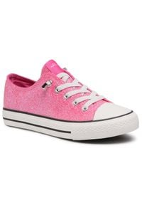 Nelli Blu - Trampki NELLI BLU - CP40-20129Y Pink. Okazja: na spacer. Kolor: różowy. Materiał: guma, materiał. Szerokość cholewki: normalna. Wzór: aplikacja