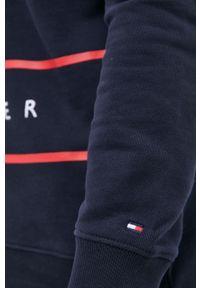 TOMMY HILFIGER - Tommy Hilfiger - Bluza bawełniana. Okazja: na co dzień. Kolor: niebieski. Materiał: bawełna. Długość: krótkie. Styl: casual