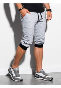 Szare szorty Ombre Clothing klasyczne, krótkie #6