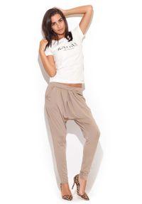Beżowe spodnie Katrus długie