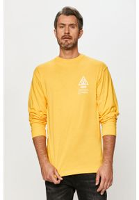 Żółta koszulka z długim rękawem Vans na co dzień, z nadrukiem, casualowa