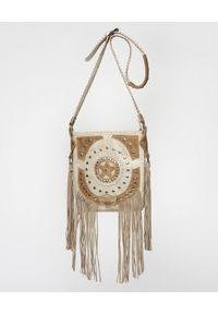 EL VAQUERO - Torebka z frędzlami Spring. Kolor: beżowy. Wzór: aplikacja. Dodatki: z frędzlami. Rodzaj torebki: na ramię #3