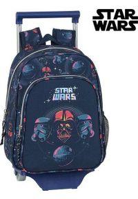 Niebieski plecak Star Wars z motywem z bajki