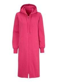 Cellbes Długa bluza czerwonoróżowy female czerwony/różowy 38/40. Typ kołnierza: kaptur. Kolor: wielokolorowy, różowy, czerwony. Materiał: dresówka, tkanina. Długość: długie